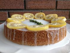 Lemon Rosemary Olive Oil Cake with Candied Lemons
