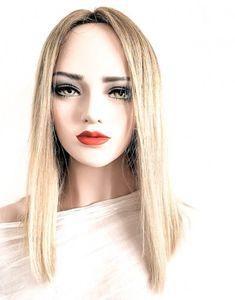 Model ADINA #107-Peruca par natural blond | Peruci.ro | Peruci.ro Human Hair Wigs, Wig Hairstyles, Blond, Nature, Model, Fashion, Moda, Naturaleza