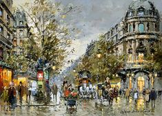 Antoine Blanchard. Grands boulevards Vaudeville