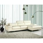 VIG Furniture - White Leather L Shape Sectional Sofa - VGCA681ANG   SPECIAL PRICE: $3,490.00