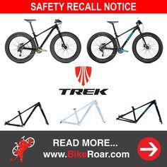 Trek recalls select Farley fatbikes, offers extra incentive for repair.   LEARN MORE: http://roa.rs/2flxQfb?utm_content=buffere93e9&utm_medium=social&utm_source=pinterest.com&utm_campaign=buffer.   #trek #farley #farley6 #fatbike #bike #bicycle #safetyrecall #trekbikes