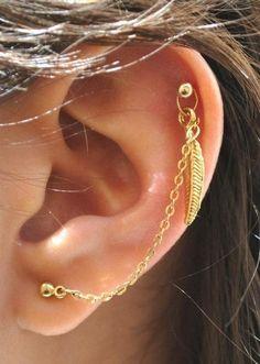 18 lindos e inesperados piercings en la oreja