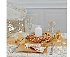 Superbe décoration de table, ivoire et or !