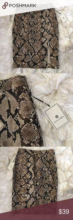 Selling this NWT Altuzarra for Target Snake Print Pencil Skirt on Poshmark! My username is: thekeytochic. #shopmycloset #poshmark #fashion #shopping #style #forsale #Altuzarra #Dresses & Skirts