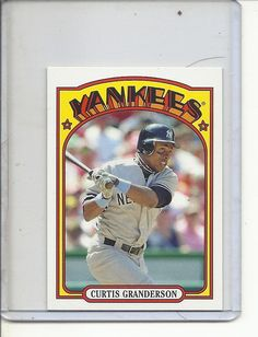 12f18f379 (B-2) 2013 Topps mini  TM-30  Curtis Granderson - 1972 Series