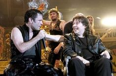 Bruce with Clive Burr (ARE)