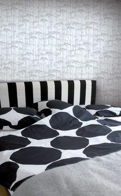 Putkinotko Wallpaper Grey/Grey | Kiitos Marimekko
