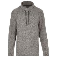 Hoodie Cowl Neck Sweater