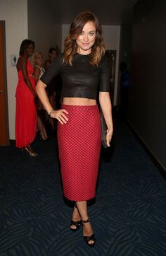Olivia Wilde in an A.L.C crop top at the ESPY Awards red carpet.