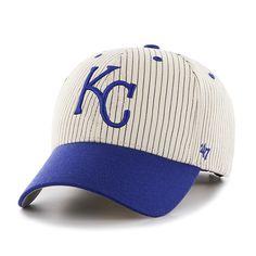 cheap for discount 329f1 e0dc4 Kansas City Royals Pinstripe Home Run Two Tone MVP Navy 47 Brand Adjustable  Hat