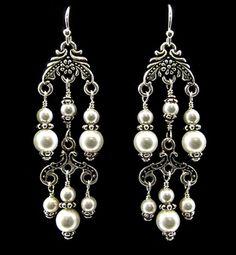 Pearl Chandelier Earrings | Earrings