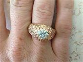 Men's Estate ring 2.7CT Round Brilliant European cut Diamond $15,000  Appraisal states VVS clarity, G-H color Total replacement value 42,000