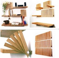 Retractable bookshelves  OMG...  that would actually be relatively easy to reproduce.