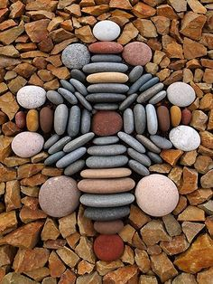 Stone Cross - Notice all the different color of stone.