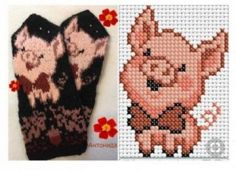 Knitted Mittens Pattern, Knit Mittens, Knitted Gloves, Knitting Socks, Fair Isle Knitting, Beaded Cross Stitch, Cross Stitch Baby, Crochet Cross, Cross Stitch Embroidery