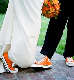 When it comes to wedding shoes, the choice used to be simple: white or ivory. But nowadays, brides' footwear ranges from blue Manolo Blahniks to worn-in cowboy boots. Even sneakers have become acceptable!