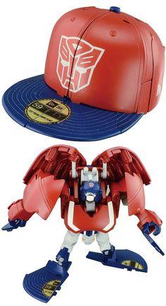 562184b66 New Era caps that transform into robots! Takara x New Era