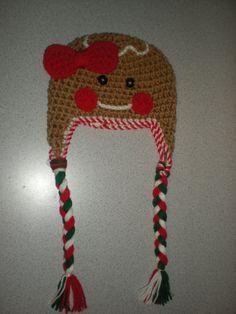 Gingerbread Boy or Girl Hat