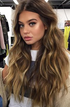 Pinterest: DEBORAHPRAHA ♥ Sofia Jamora soft wavy curls hair style, with blonde highlights