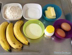Aprende a preparar queque de plátano esponjoso con esta rica y fácil receta. Una forma muy divertida y deliciosa de introducir la fruta tanto en nuestra dieta como e... New Recipes, Sweet Recipes, Healthy Recipes, Sin Gluten, Delicious Desserts, Paleo, Eggs, Cooking, Breakfast