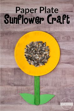 Sunflower Craft - super cute, simple to make flower craft for toddler, preschool, prek, kindergarten, first grade (spring crafts, kids activities)