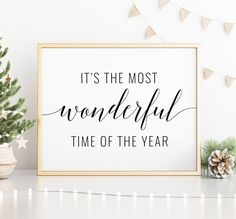 Most Wonderful Time of the Year Printable Art, Christmas Decoration, Christmas Quote Prints, Christmas Printable Wall Art *INSTANT DOWNLOAD* Printing Websites, Online Printing, Office Printers, Christmas Quotes, Time Of The Year, Christmas Printables, Quote Prints, Printable Wall Art, Wonderful Time