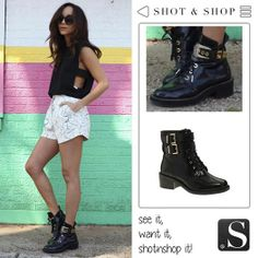 These boots are made for walking!! #black #boots #ShotnShop #fashion #app