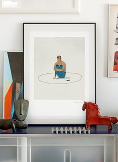 My Space. Illustration art giclée print signed by by PawelJonca