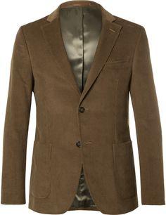 Officine Generale Brown Cotton-Corduroy Suit Jacket