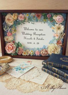★オーダー方法★ の画像|ウェディング&フラワーリースのMilkyFlower* Wedding Crafts, Diy Wedding, Wedding Flowers, Wedding Decorations, Japanese Florist, Wedding Welcome Board, How To Preserve Flowers, Flower Frame, Paper Quilling