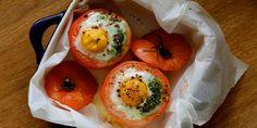 Receta Huevos al horno con tomate, pesto y queso | Los Sabores de México y el mundo