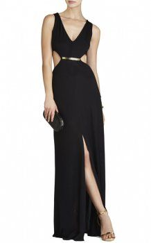 fe6a5e0936 Valentina V-Neck Cutout-Waist Long Gown