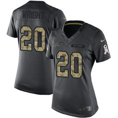 Women's Nike Buffalo Bills #20 Shareece Wright Limited Black 2016 Salute to Service NFL Jersey