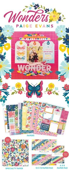 Paige Evans | Wonders collection Gold Foil Paper, Specialty Paper, Scrapbook, In This Moment, Evans, Collection, Scrapbooking, Guest Books, Scrapbooks