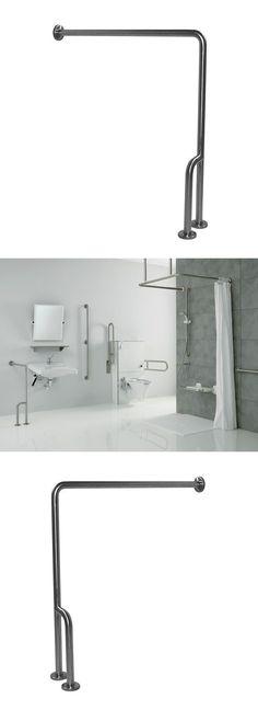 Handles And Rails: Handicap Grab Bars Bar Stainless Steel Safety Shower  Bathroom Elderly Wall Floor