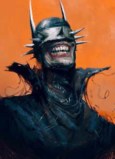 The Batman Who Laughs Art by Tris Baybayan Comic Villains, Comic Book Characters, Comic Books Art, Comic Art, Arte Dc Comics, Wallpaper Animé, Batman E Superman, Batman Arkham, Batman Robin