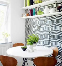 Go big in a small space-use a bold pattern or color of your choice in a smaller space in your home. Whether it's a nook, reading area, or under your staircase, these are all great places to spice it up!  Visit GlamoreHouse.com for more tips