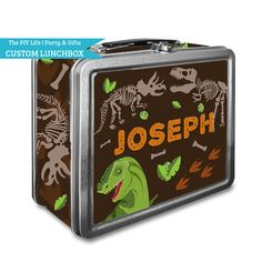 Lunch Box  Digging Dinosaur Fossils Tin Lunch Box by ThePIYLife