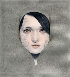 Tran Nguyen - Cuando caemos en un momento de oro / Cuando We Swallow un segundo Sterling. Acrílico y lápiz de color (2012)