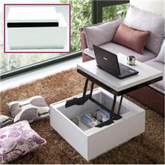 if you are living alone or with a partner in a small apartment, this lift up coffee table definitely is best choice to place at living room.