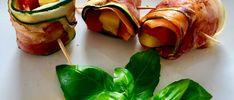 Roladki warzywne z wędzonym boczkiem Mozzarella, Zucchini, Grilling, Vegetables, Blog, Crickets, Vegetable Recipes, Blogging, Squashes