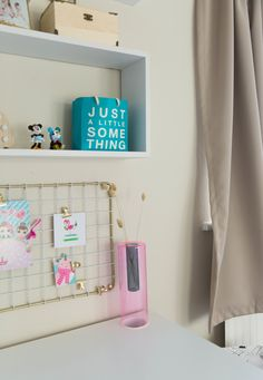 Easy ideas and inspiration how you can transform your childs toddler room into a functional space for a school aged child. This Scandinavian inspired bedroom reveal will show you how well neutrals work with all shades of pink and minimalist furniture. Desk For Girls Room, Girl Desk, Girls Bedroom, Bedroom Ideas, Bedroom Decor, Scandinavian Kids Rooms, Child Room, Minimalist Furniture, House Decorations