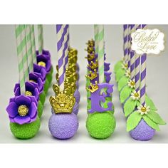 Princess and the Frog inspired cake pops