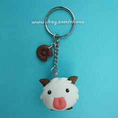 League of Legends - Kawaii Poro and Cookie Keychain (made on order)