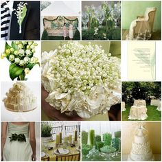 Image detail for -clockwise from top left lily of the valley boutonniere on