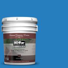 BEHR Premium Plus Ultra 5-gal. #P510-6 Brilliant Blue Eggshell Enamel Interior Paint