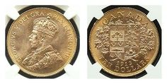 Canada George V 1913 Gold 10 Dollars NGC MS64
