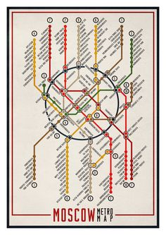 Moscow Metro Map.