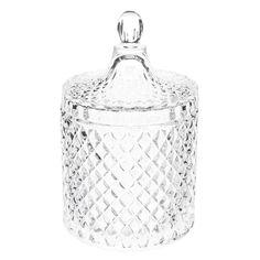 Bombonera de cristal H 18 cm ÉLÉONORE