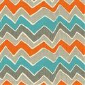 Color scheme: grey, teal, orange. Light grey walls, orange and dark grey with pops of teal---YES!